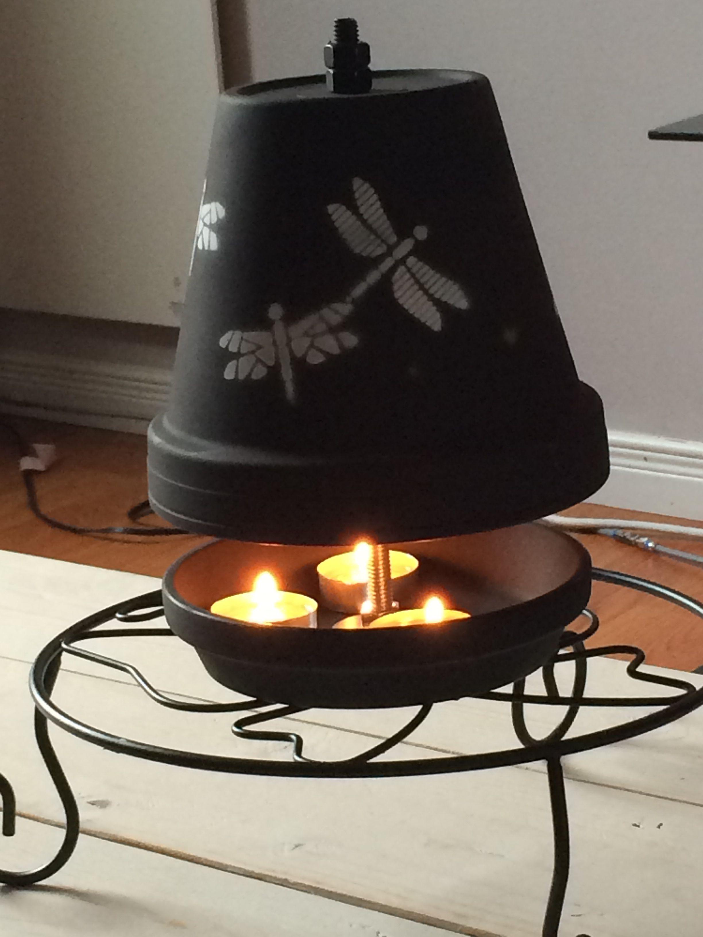 Teelichtofen Heizkorper Aus Tontopf Und Kerze Einweckglaser Dekorieren Selbstgemachte Tongefasse Teelicht Heizung