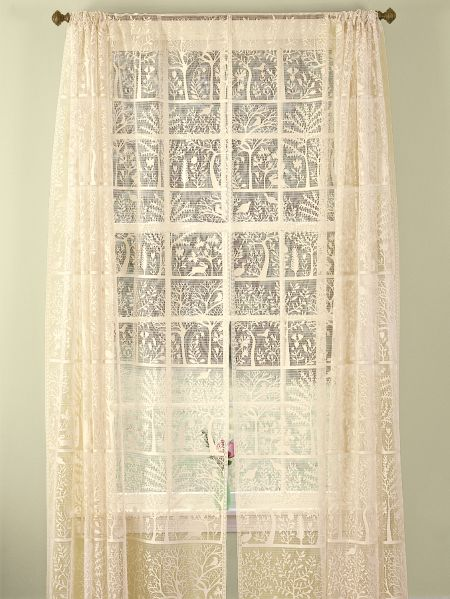 Tree Of Life Lace Rod Pocket Curtain Panel Or Tier In 2020