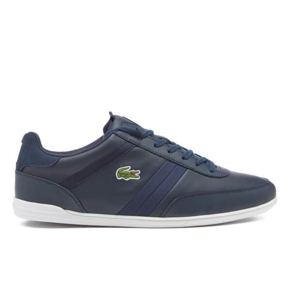 Lacoste Giron Navy Leather trainers #Lacoste #Trainers