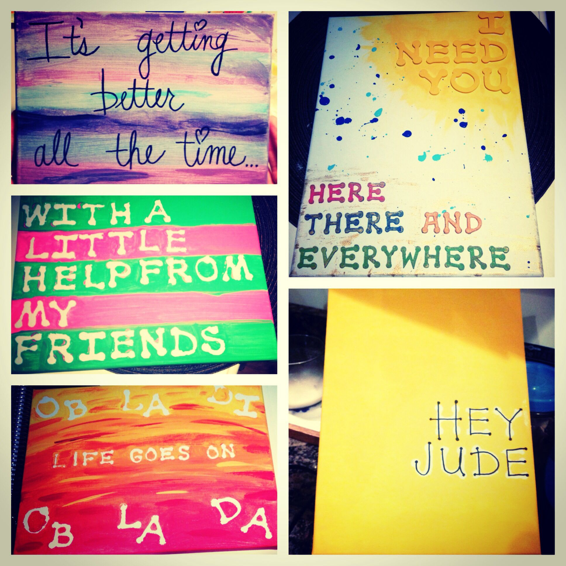 The Beatles themed canvases DIY | DIY crafts | Pinterest | Diy ...