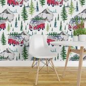 Photo of Christmas Wallpaper – Road Tripping Holidays by shopcabin – Festive Decor  Winte…