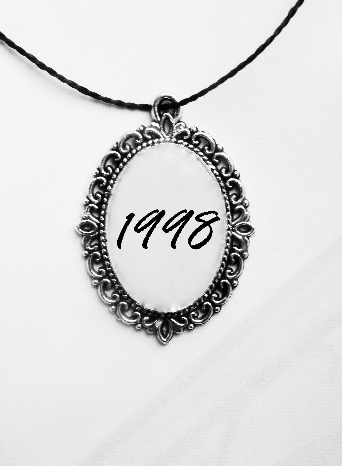 1998 Custom message gift Birthday necklace 1998 Custom message gift Birthday necklace OlaNoche OlaNocheUnderwear Pinterest MiniMall Viral Board Personalized text is print...