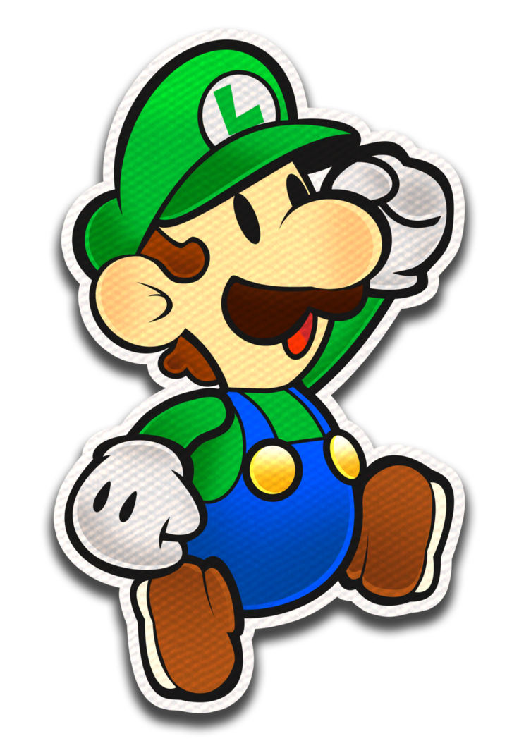 Paper Luigi Color Splash Style By Fawfulthegreat64 Dessin De