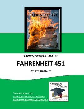 Fahrenheit 451 Literary Analysis Standards Focus Activity Pack 5 99 Teaching American Literature Pre Reading Activities Teaching Literature