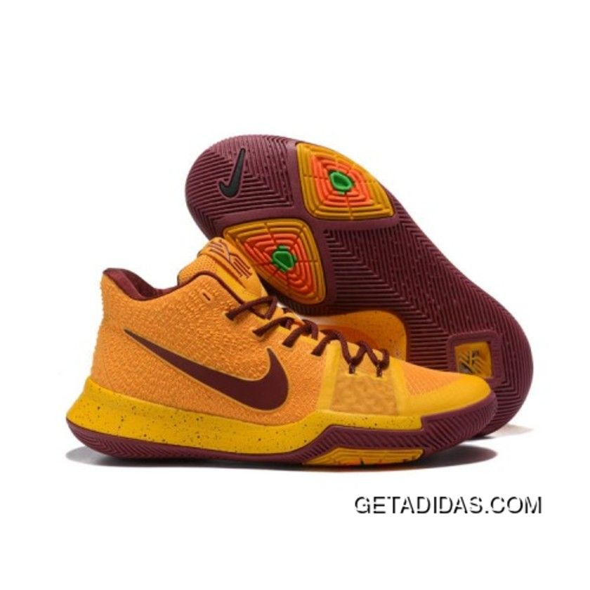 2017 Nike Kyrie 3 Gold Wine Red Basketball Shoes Lastest, Price: $98.29 -  Adidas Shoes,Adidas Nmd,Superstar,Originals