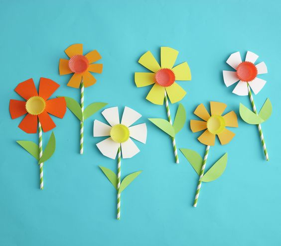 DIY Paper Daffodils Great Kids Project Supplies Straws Construction Assorted