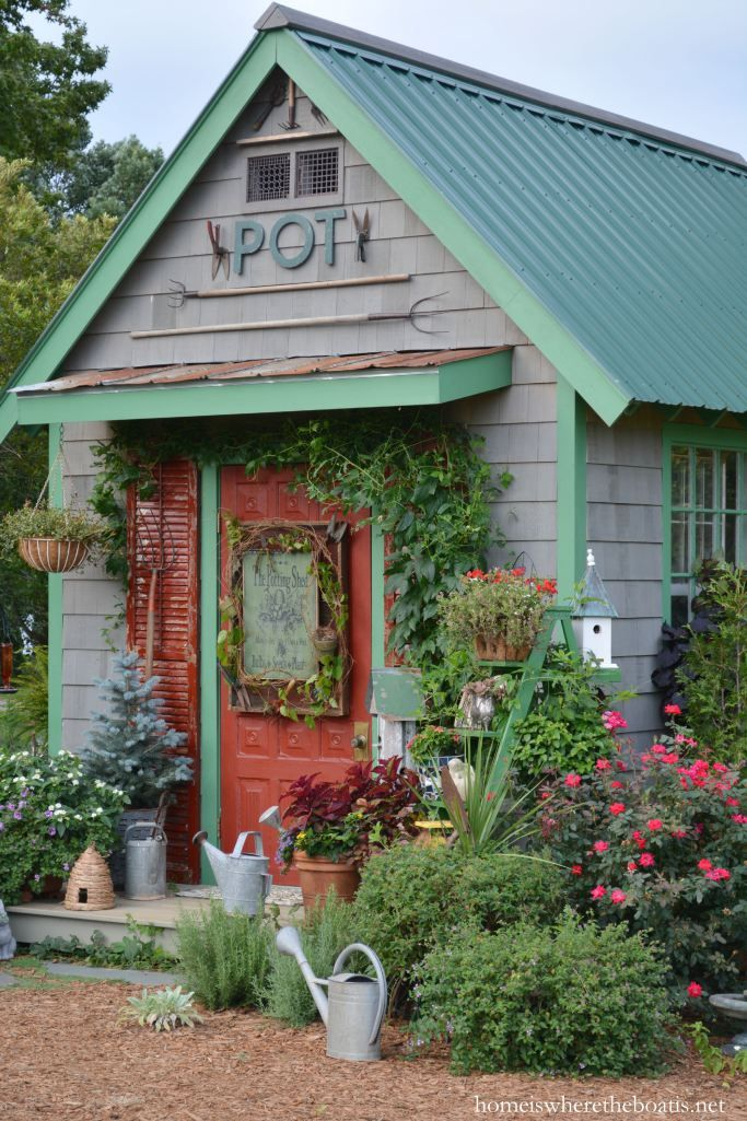 the potting shed garden shop sign shed decor shed on extraordinary unique small storage shed ideas for your garden little plans for building id=31938