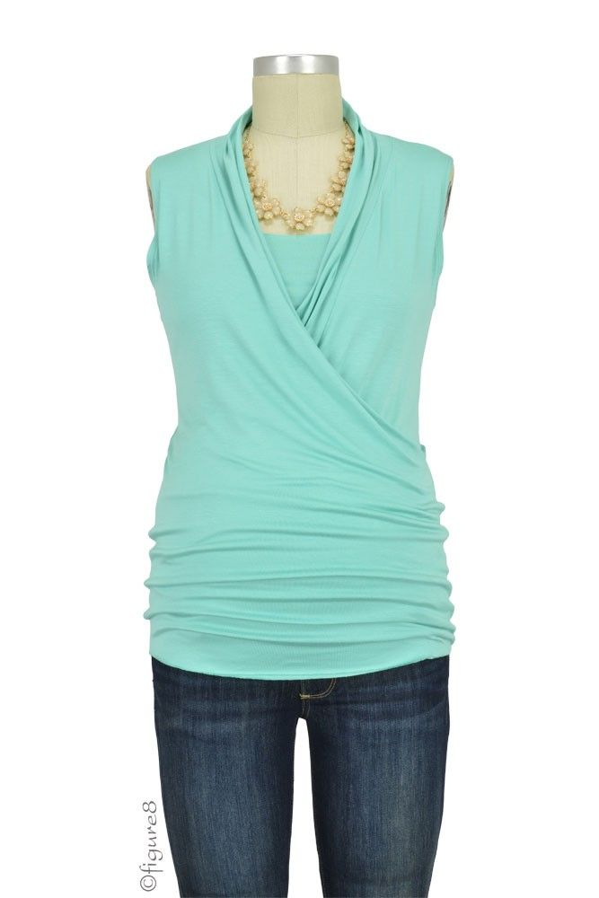 94460a38f67af Baju Mama Isabella Sleeveless Nursing Top in Spring Green. Please use  coupon code NewProducts to receive 15% off these items. To receive the  discount, ...