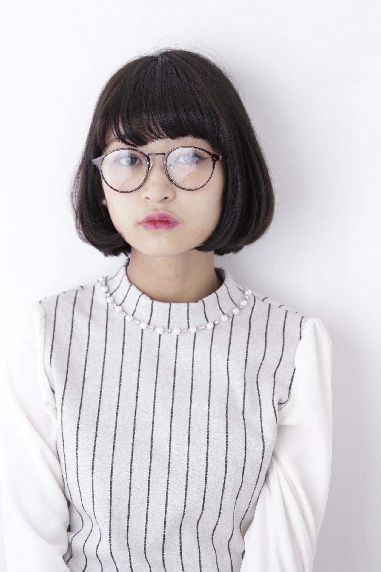 表参道 芸能人&読者モデルも注目!!めがね女子のお洒落ヘアスタイル【
