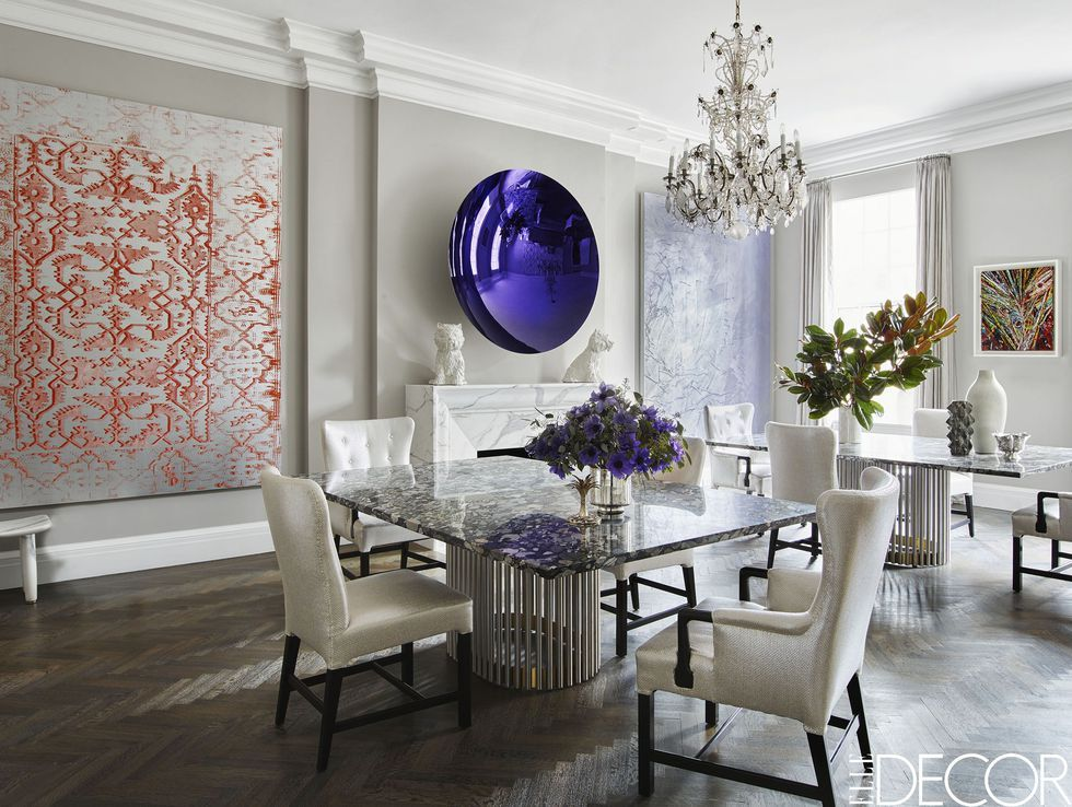 Here Are The Decorating Secrets Top Designers Swear By Farmhouse Dining Rooms Decor Elegant Dining Room Farmhouse Dining Room