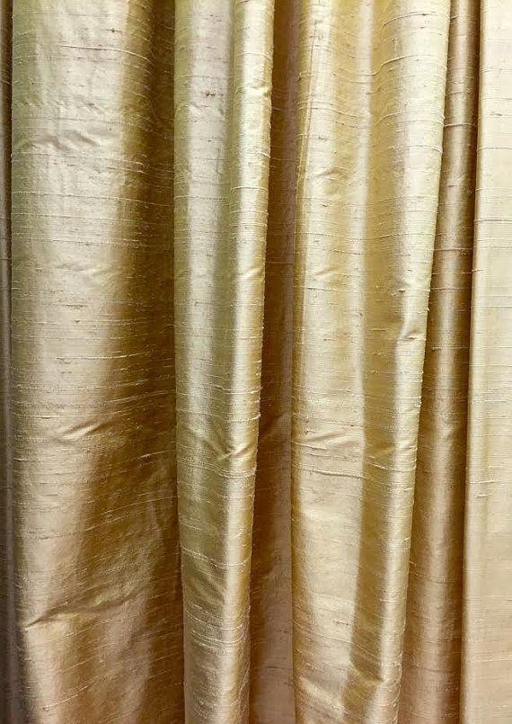 Gold Curtain Curtains Silk Curtain Panels By Fantasyfabricdesigns