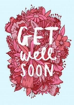 soon flower get well soon card wb1130 wensen varia pinterest