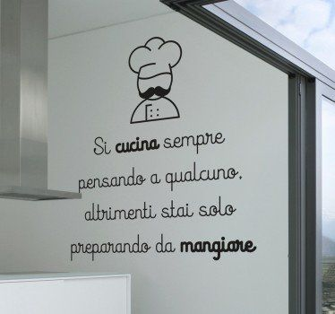 Wall Sticker Si Cucina Pensando A Qualcuno Lavagne Adesive Pinterest Cucina