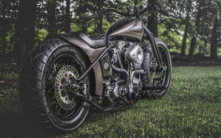 Download Wallpapers Harley-Davidson Shovelhead Hardtail