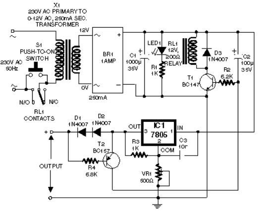 how to make self switching power supply