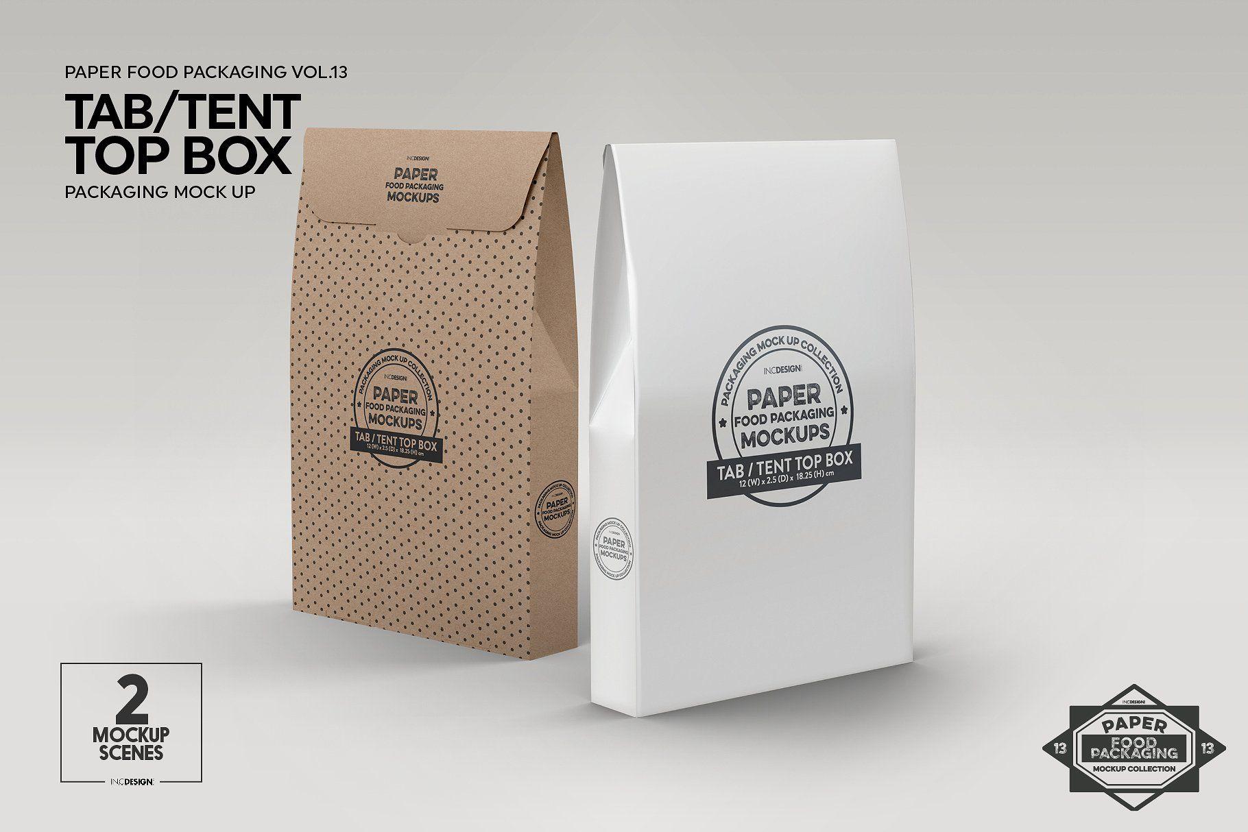 Download Tab Tent Top Box Packaging Mockup Packaging Mockup Free Packaging Mockup Box Packaging