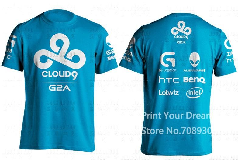 Cloud 9 Blue T-Shirt with Sponsors //Price: $14 95 & FREE