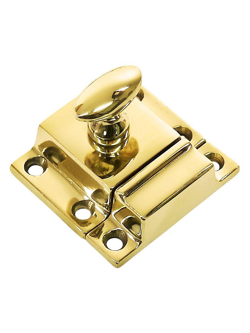 Best Small Cast Brass Cupboard Latch With Oval Turn Piece 640 x 480