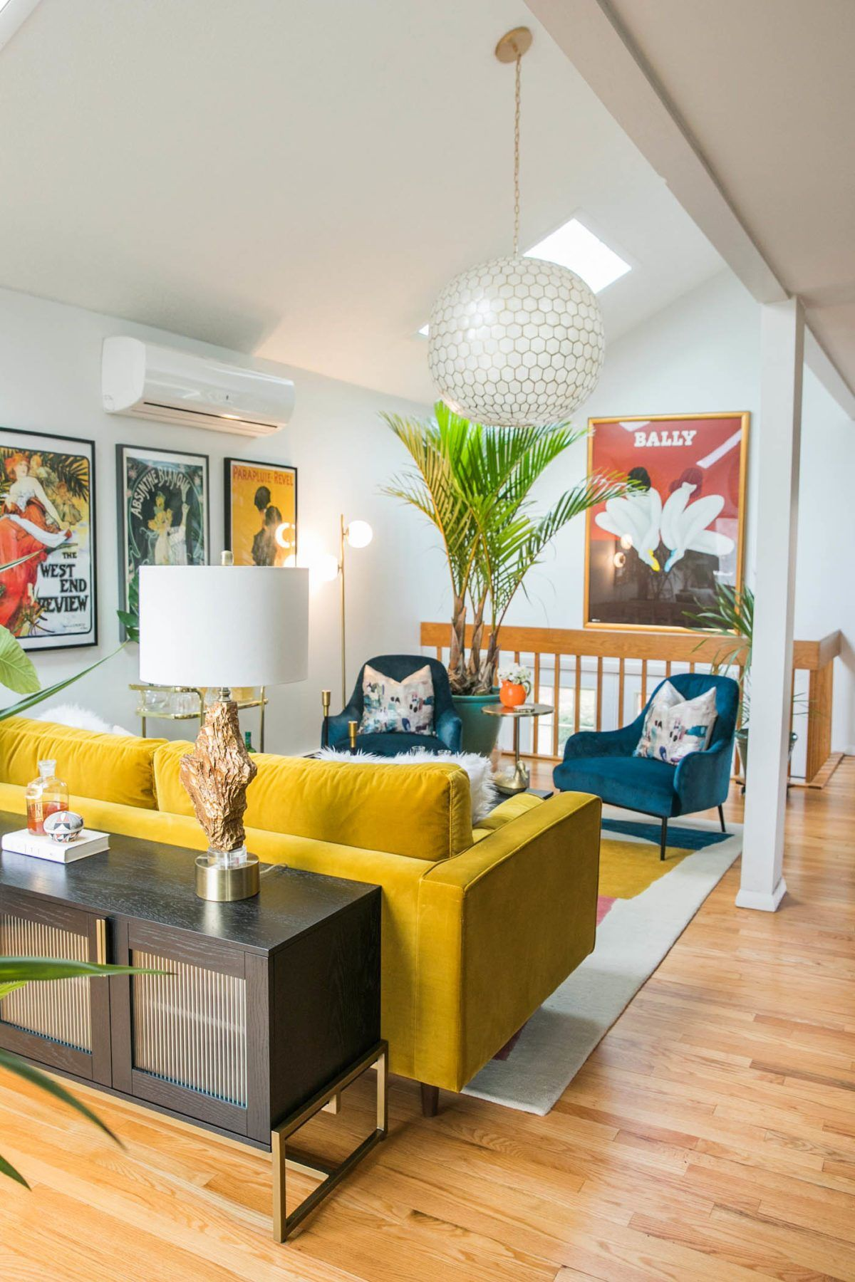 Photo of Vibrant Mid-Century Glam Living Room Refresh – THE REVEAL »