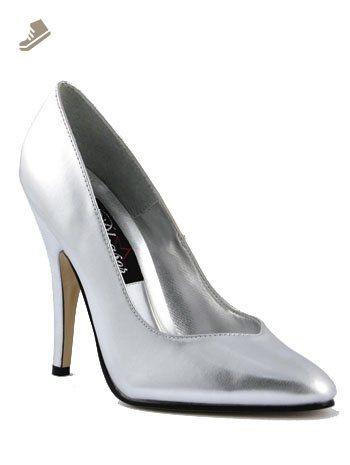 2822b8b1f6fe2 Sexy High Silver 5 Inch Heels - 8 - Pleaser pumps for women (*Amazon ...