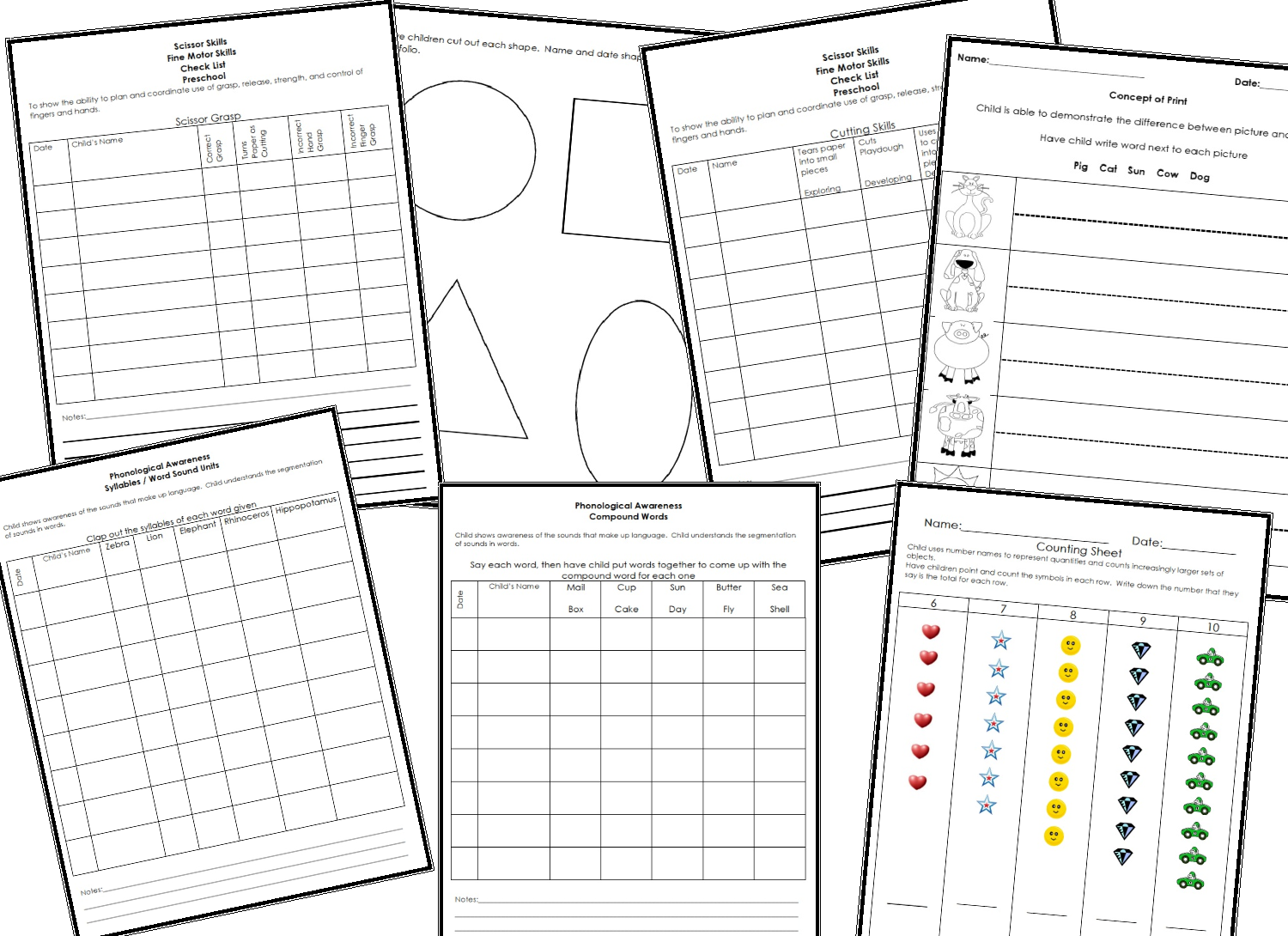 Learning and Teaching With Preschoolers: Checklist and
