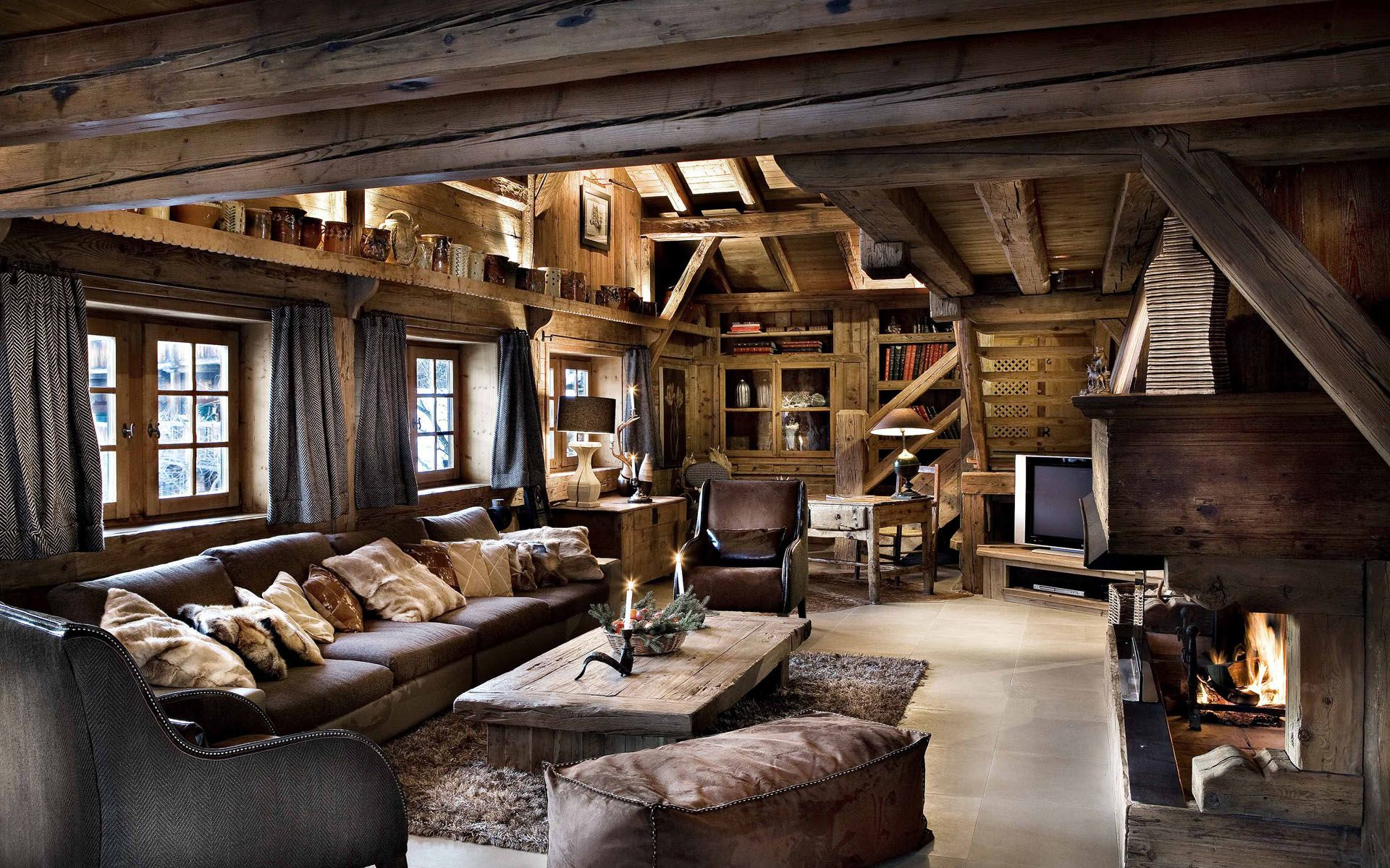 12 photo of 47 for alpine chalet interiors | Mazurska Chata Cottage ...