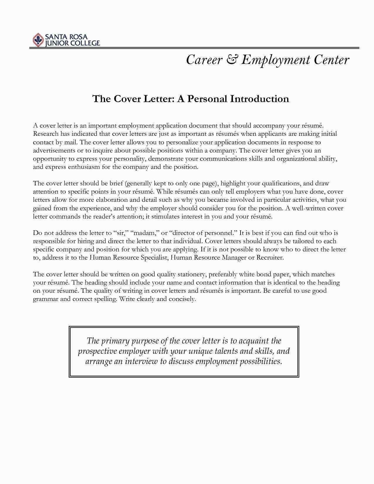 Fresh sample letter to job recruiter cover letter for