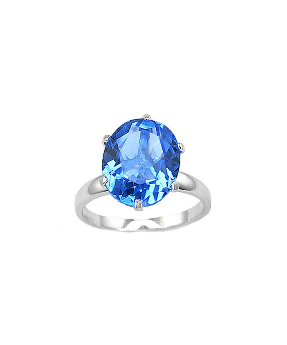 Take a look at this Tanzanite & Sterling Silver Oval-Cut Solitaire Ring today!