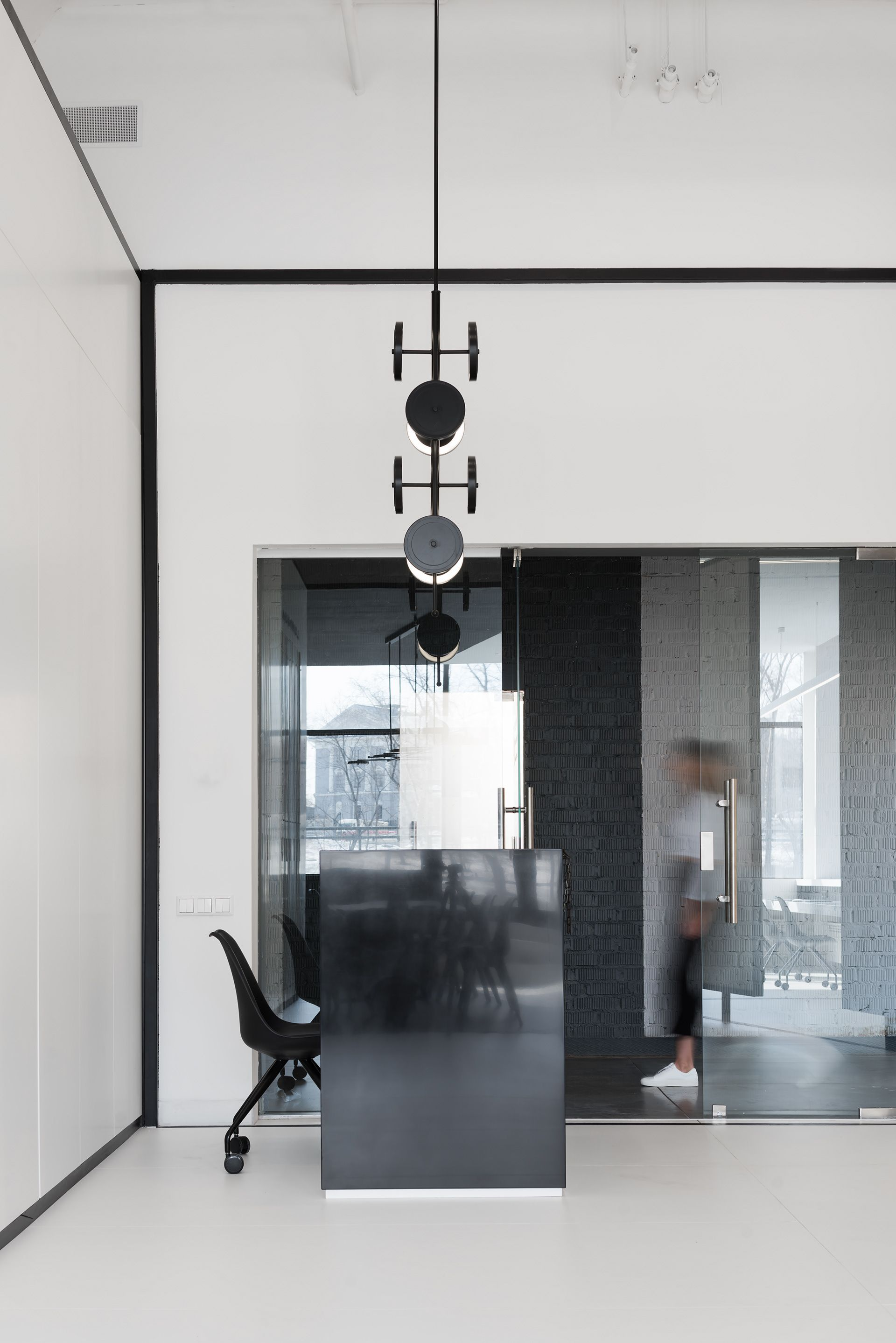Interior Design Black And White Minimalist Interior Showroom