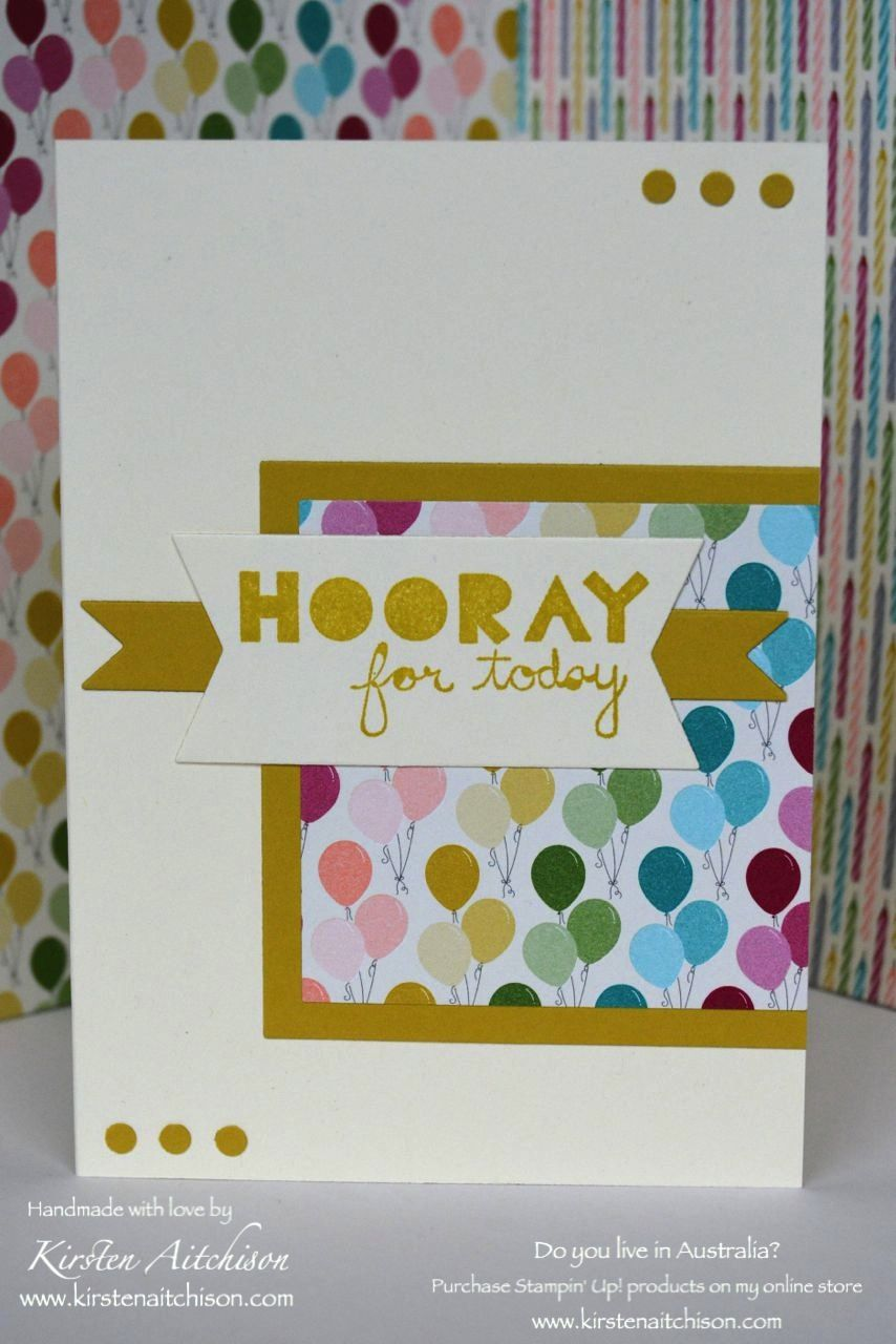 Kirsten Aitchison | The Paper Players CAS Challenge #300 : Celebration | Click to see more of Kirsten's Designs #kirstenaitchison #thepaperplayers #pp300 #stampinup #birthdaybasics