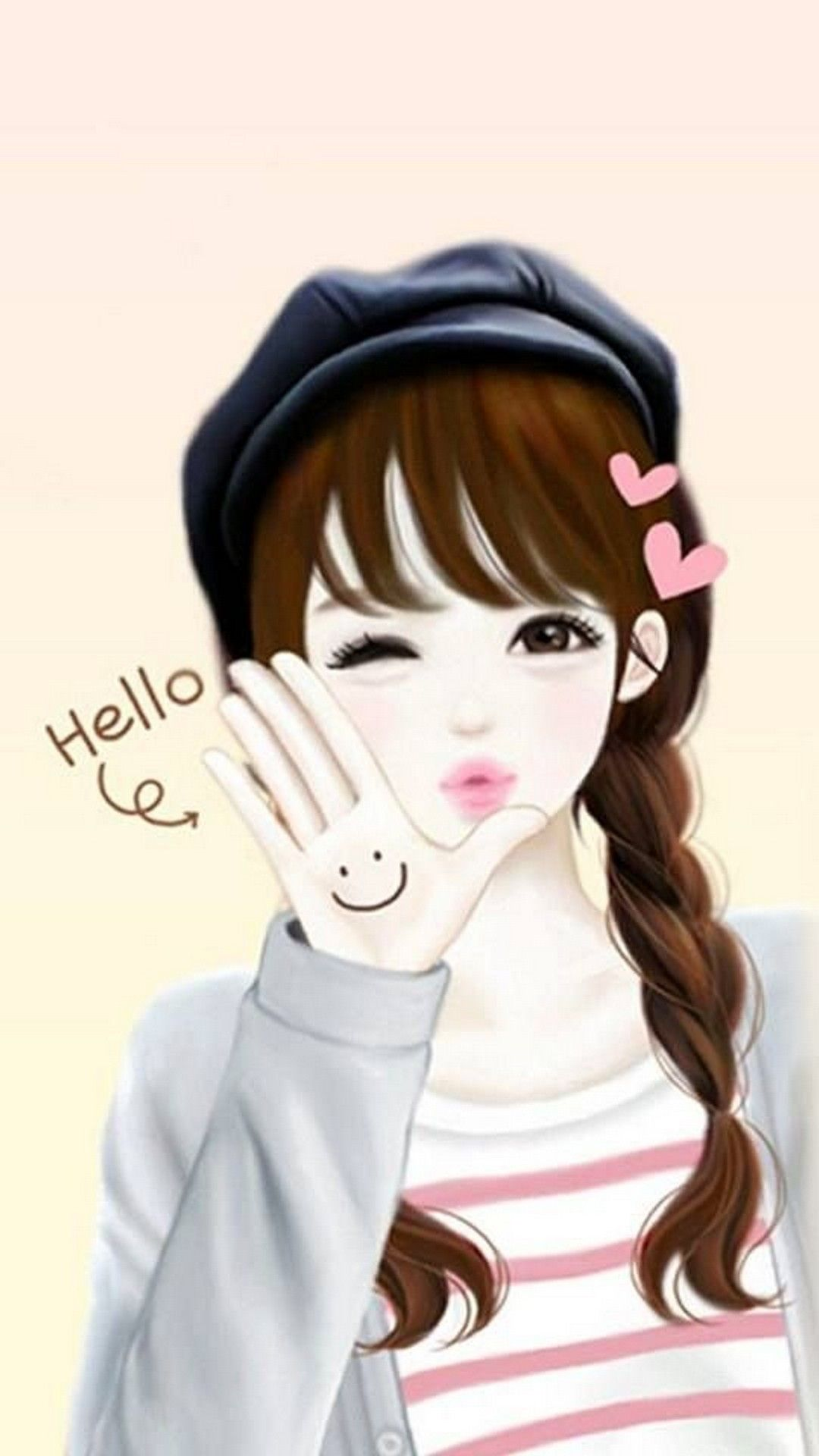 Girly Mobile Wallpaper With Images Cartoon Girl Drawing
