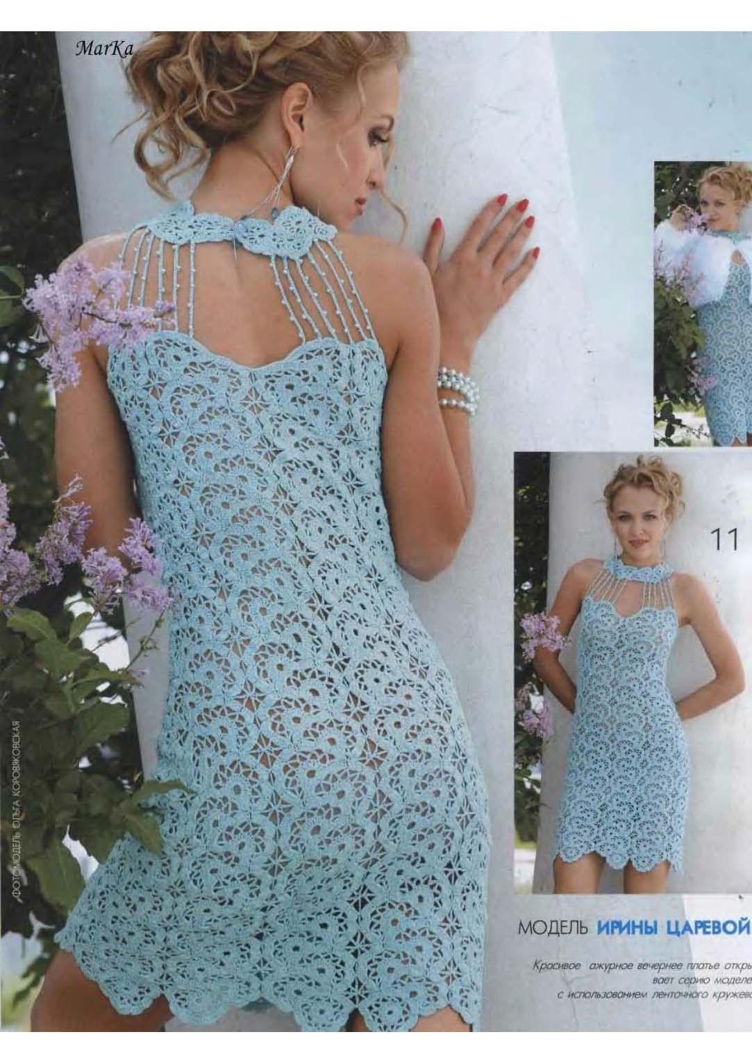 Patrones Vestidos Crochet | Mi facinacion por las blusas nunca ...