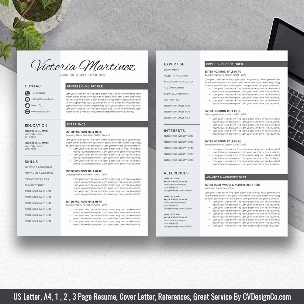 Resume Reference Template Microsoft Word Beautiful 2019 Best Selling Ms Fice Word Resume Cv Bundle The In 2020 Resume References Resume Word Design Resume reference template microsoft word