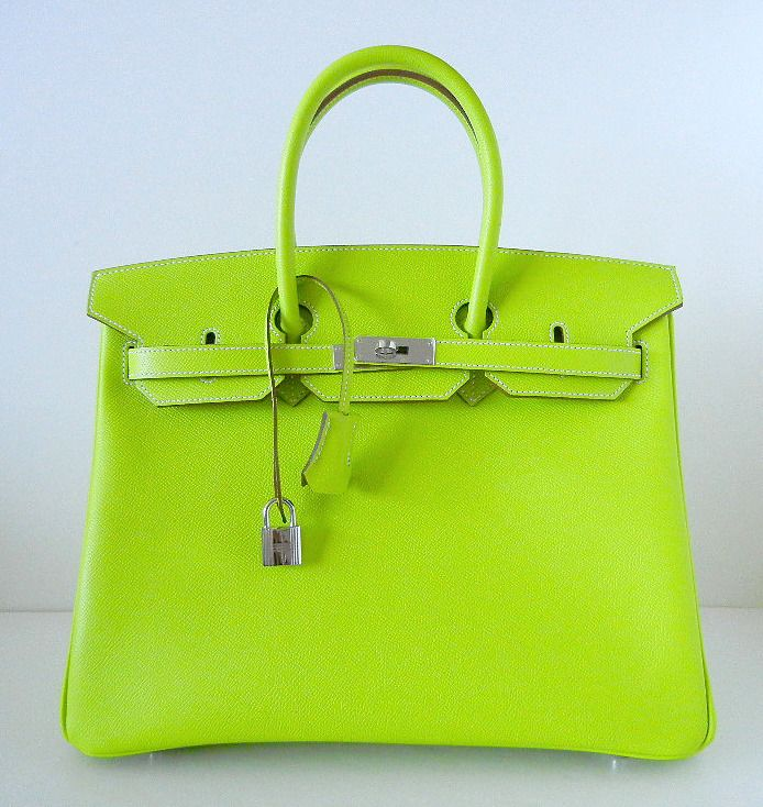 3a2dc8dccd7 HERMES BIRKIN 35 Bag Candy Series KIWI Limited Edition epsom palladium  Starting Bid  28