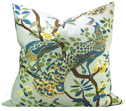 peacock kit feathers pillows cutting paint stencils pillow a decorative stencil edge stenciling accent feather diy