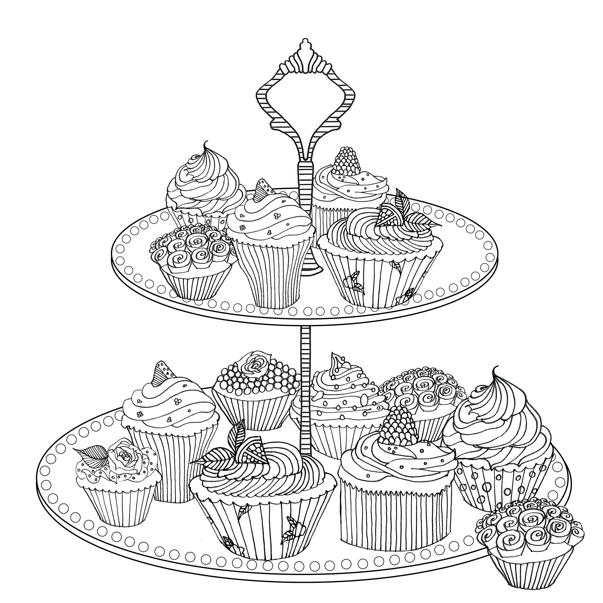 Robot Check Cupcake Coloring Pages Coloring Pages Colouring Pages