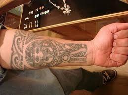 Aztec Tattoo On Left Forearm Aztec Tattoo Designs Aztec Tattoo Tattoos For Guys Aztec Tattoos