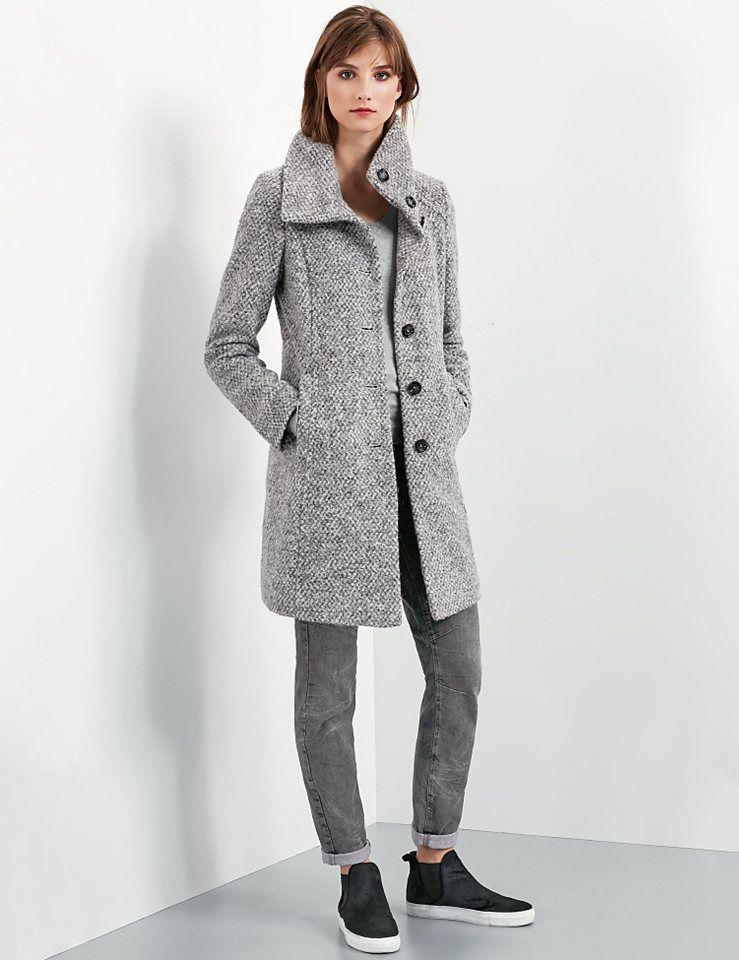 Esprit Mantel mit Stehkragen und Bündchen kaufen | OTTO