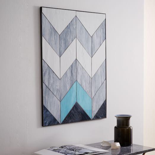 DIY large wall art inspiration Pieced Glass Wall Art | West Elm ...
