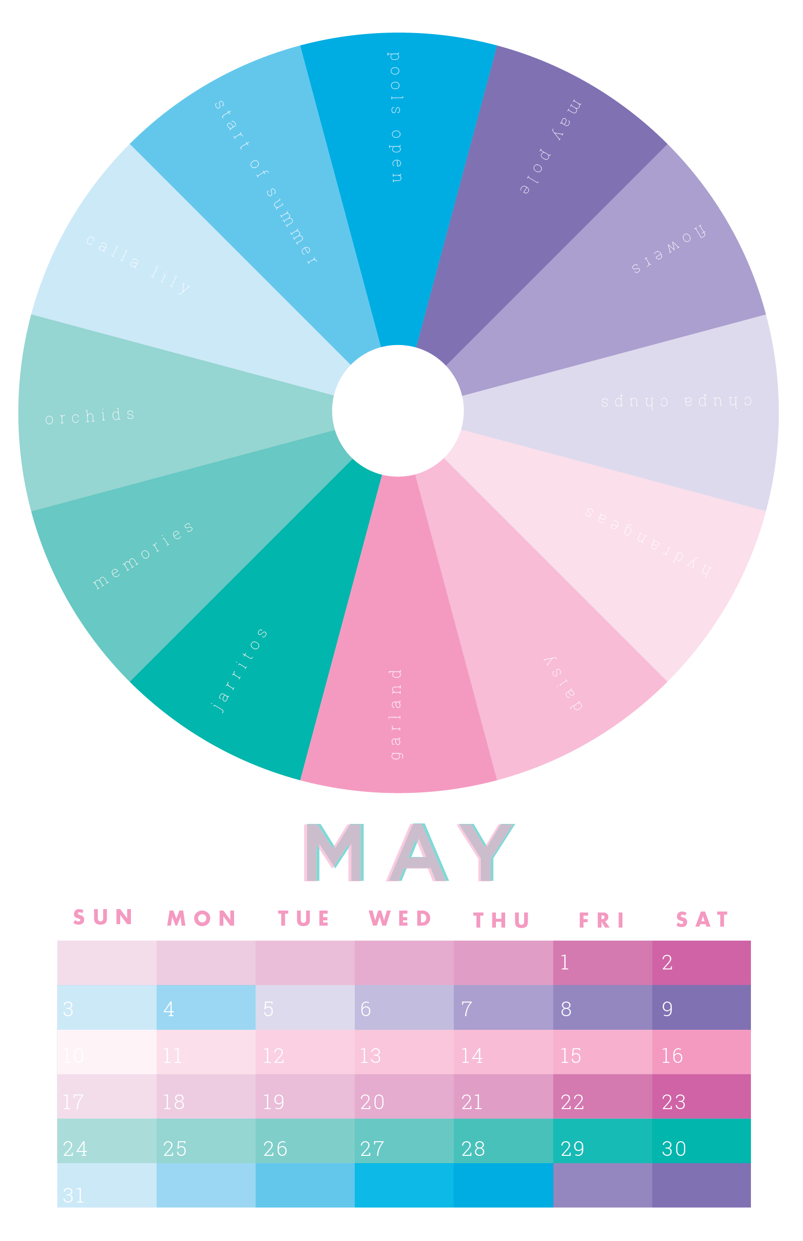 medium resolution of the colors of may