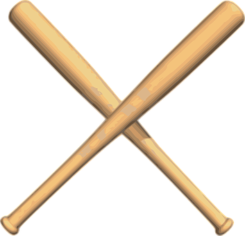 Baseball Bats Crossed Wood Play Baseball Bat Baseball Drills Espn Baseball