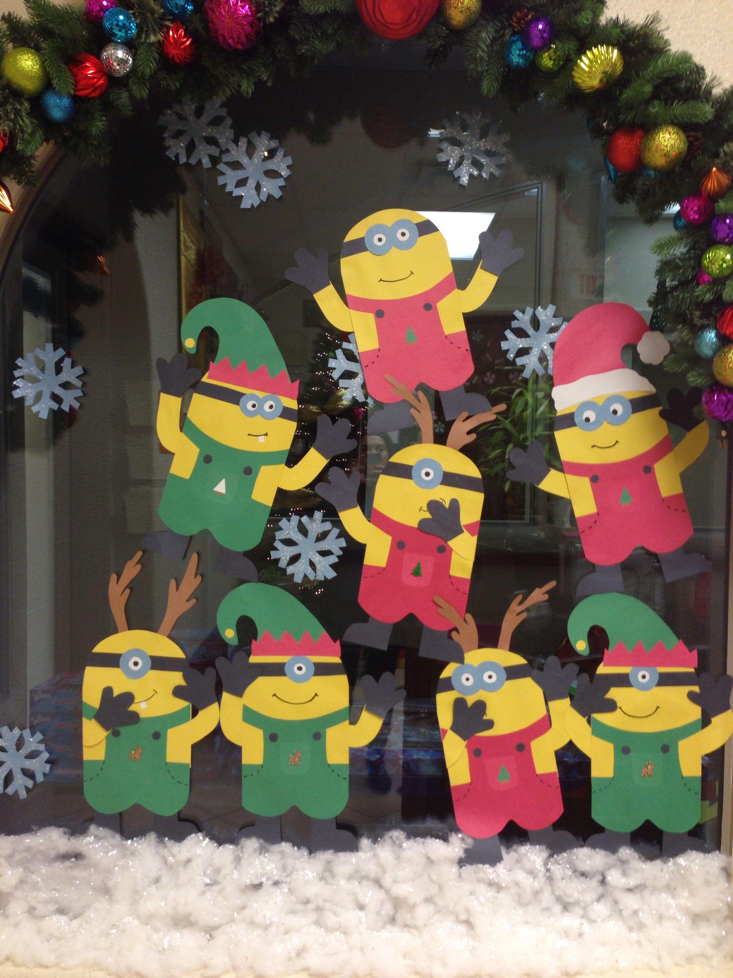 idea para decorar tu fiesta de cumpleaos minions - Minions Christmas Decorations