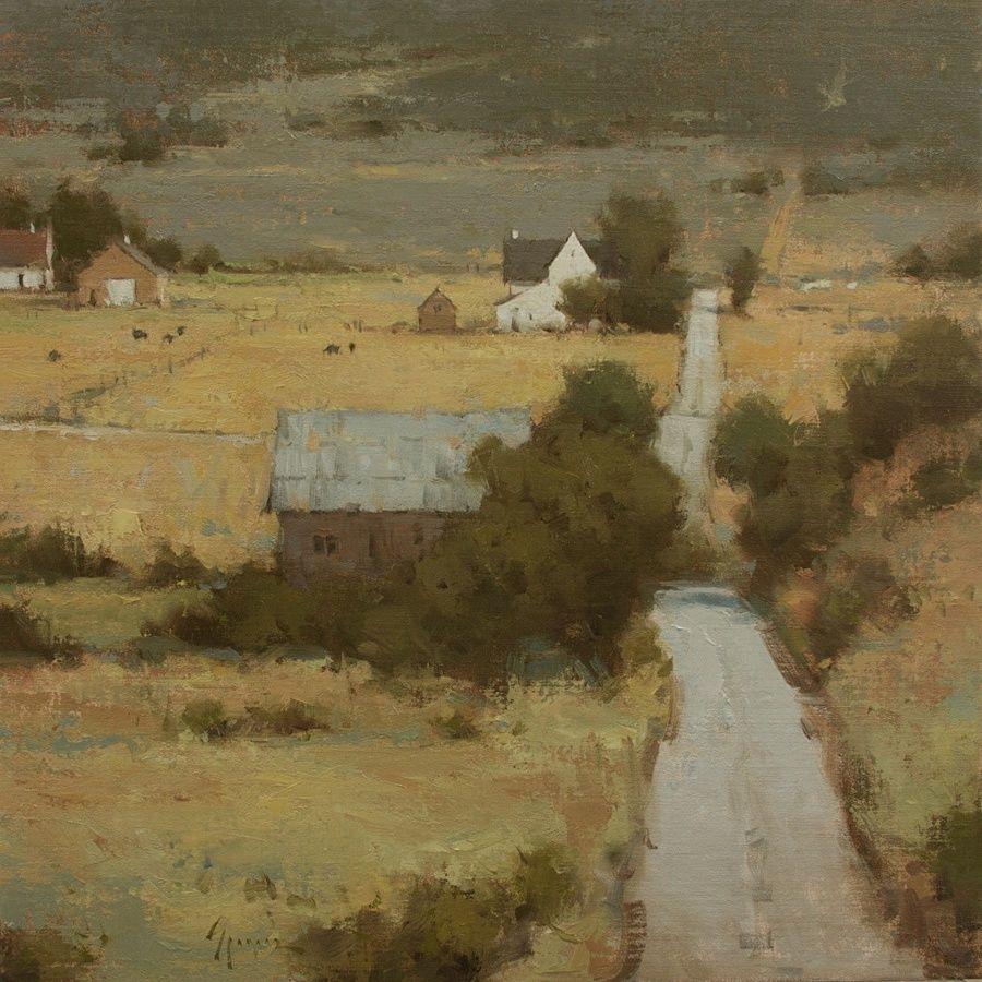 Returning Home by Ken Spencer Oil 24 x 24 Landscape