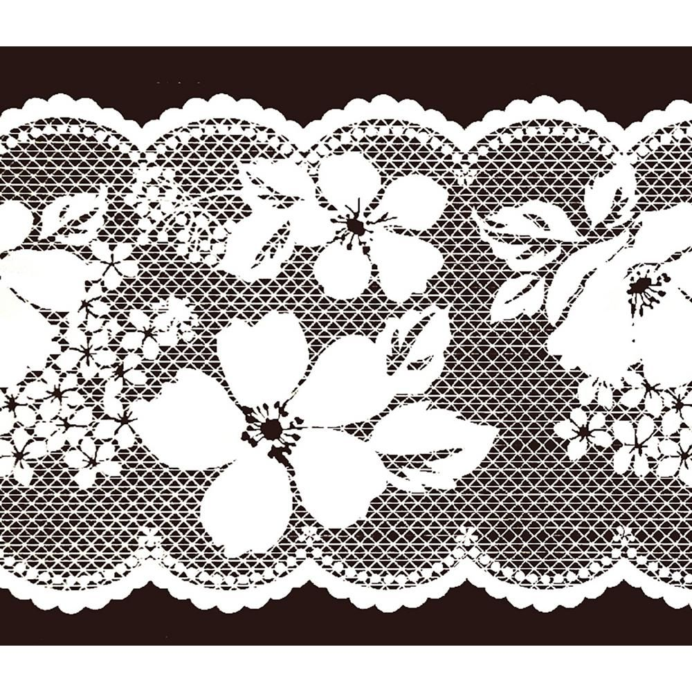 Dundee Deco Falkirk Mcghee Peel And Stick Floral White Blooming Flowers Self Adhesive Window S In 2020 Self Adhesive Wallpaper Borders Wallpaper Border Window Stickers