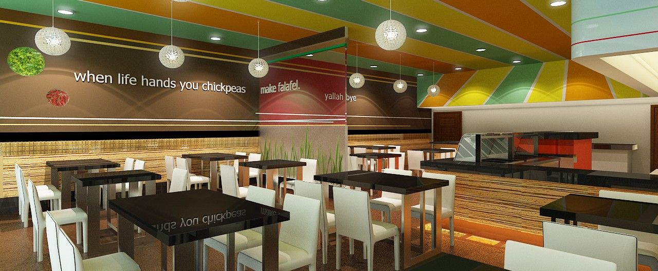 projects a to z commercial restaurant interior design firm - Fast Food Store Design