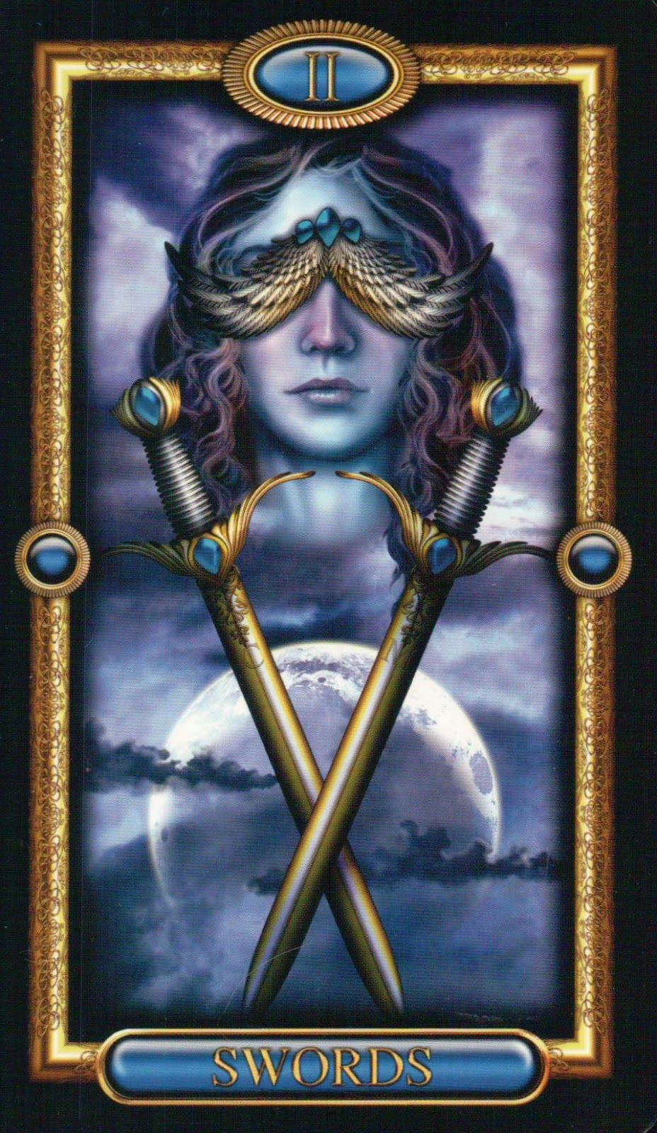 Two of Swords ~ The Gilded Tarot by Ciro Marchetti