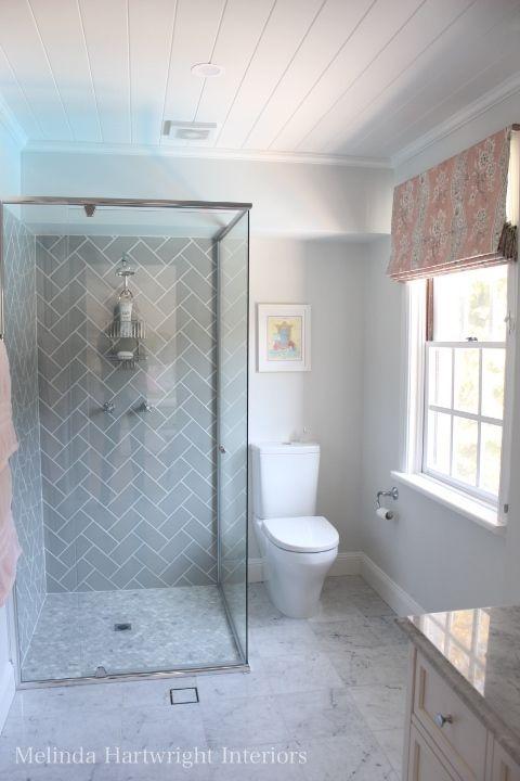 Pink And Grey Bathroom Grey Subway Tile Herringbone Pattern Marble Mosaic Tiles Girls Bathroom Bathroom Shower Walls Bathroom Remodel Tile