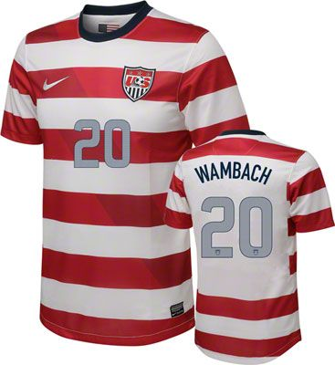 100% authentic 161b1 65986 Abby Wambach #20 Home Nike Soccer Jersey: United States ...