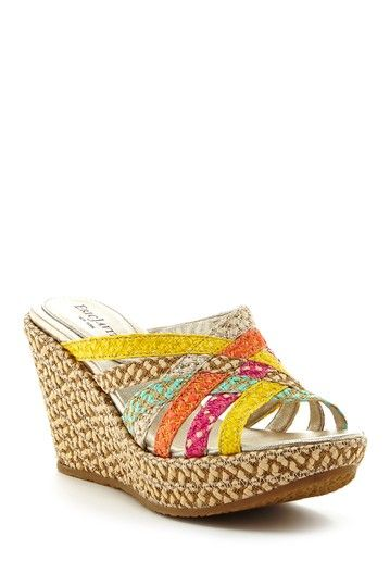 Eric Javits Edy Wedge Sandal - Narrow Width Available by ERIC JAVITS on @HauteLook
