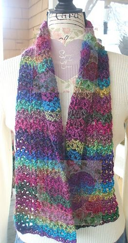 Unforgettable Stained Glass Scarf Free Crochet Pattern